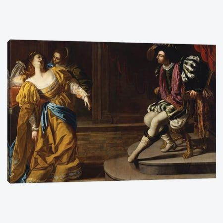 Esther Before Ahasuerus, c.1630 Canvas Print #BMN7576} by Artemisia Gentileschi Art Print