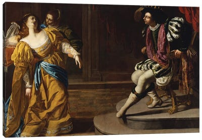 Esther Before Ahasuerus, c.1630 Canvas Art Print