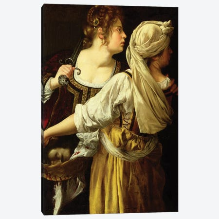 Judith And Her Servant Canvas Print #BMN7577} by Artemisia Gentileschi Canvas Art Print
