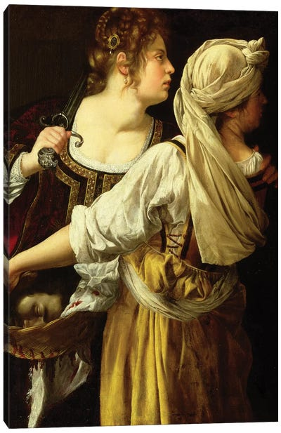 Judith And Her Servant Canvas Art Print