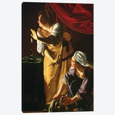 Judith And Maidservant With The Head Of Holofernes, c.1625 Canvas Print #BMN7578} by Artemisia Gentileschi Canvas Art