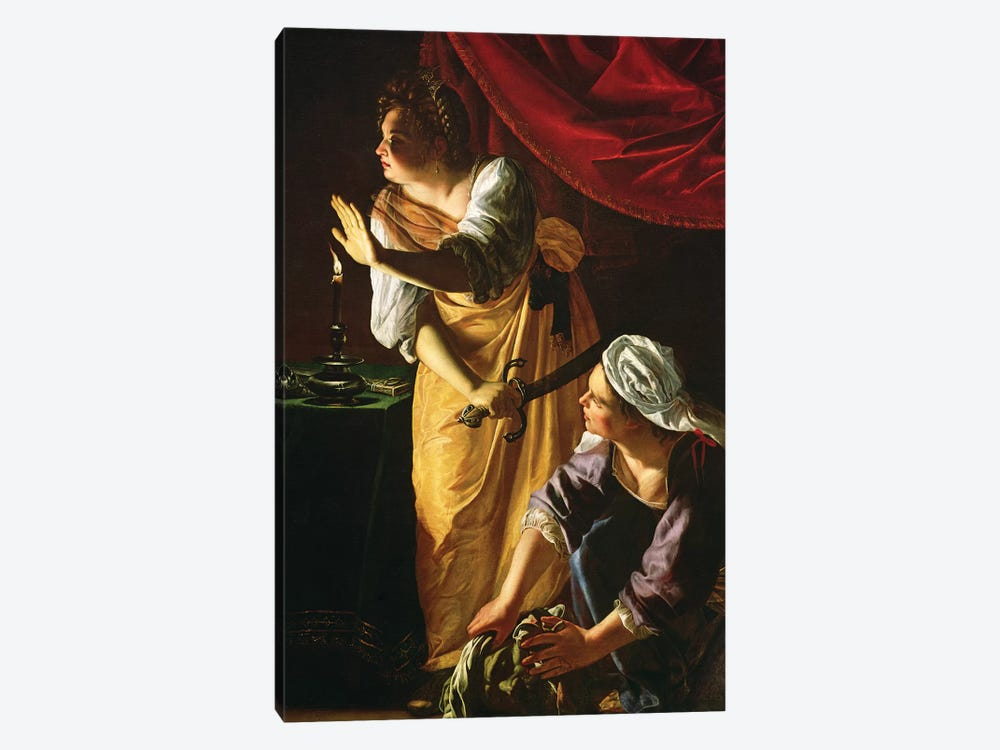Judith And Maidservant With The Head Of Holofernes, c.1625 by Artemisia Gentileschi 1-piece Canvas Artwork