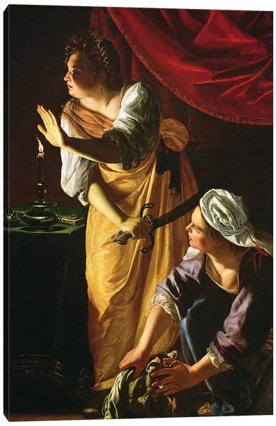 Judith And Maidservant With The Head Of Holofernes, c.1625 Canvas Art Print