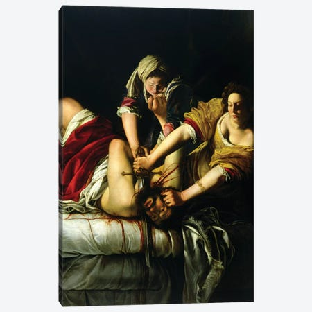 Judith Slaying Holofernes (Galleria degli Uffizi), 1612-21 Canvas Print #BMN7579} by Artemisia Gentileschi Canvas Artwork