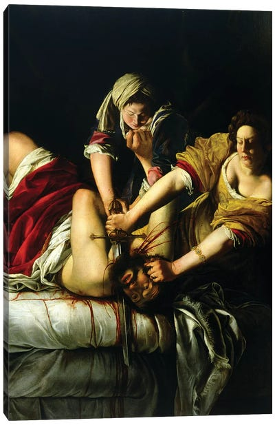 Judith Slaying Holofernes (Galleria degli Uffizi), 1612-21 Canvas Art Print