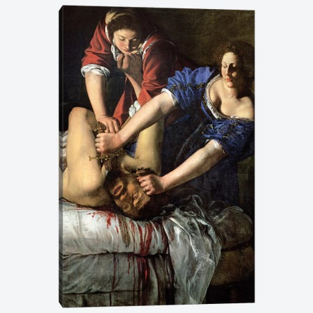 Judith Slaying Holofernes (Museo di Capodimonte) Canvas Print #BMN7580} by Artemisia Gentileschi Canvas Art Print