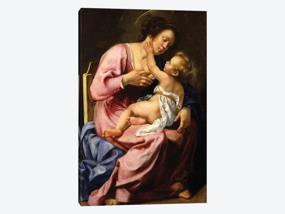 Madonna And Child by Artemisia Gentileschi 1-piece Canvas Art
