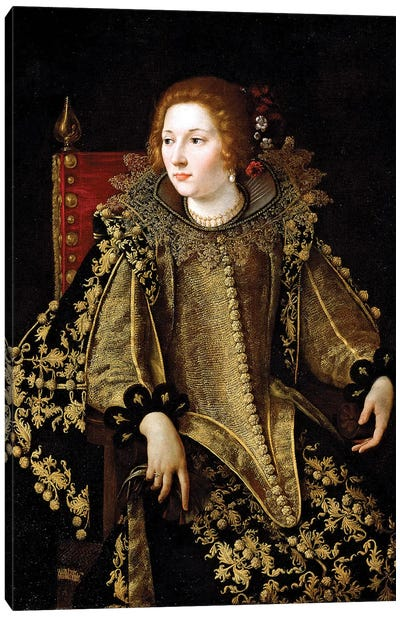 Portrait Of A Seated Lady, c.1620 Canvas Art Print