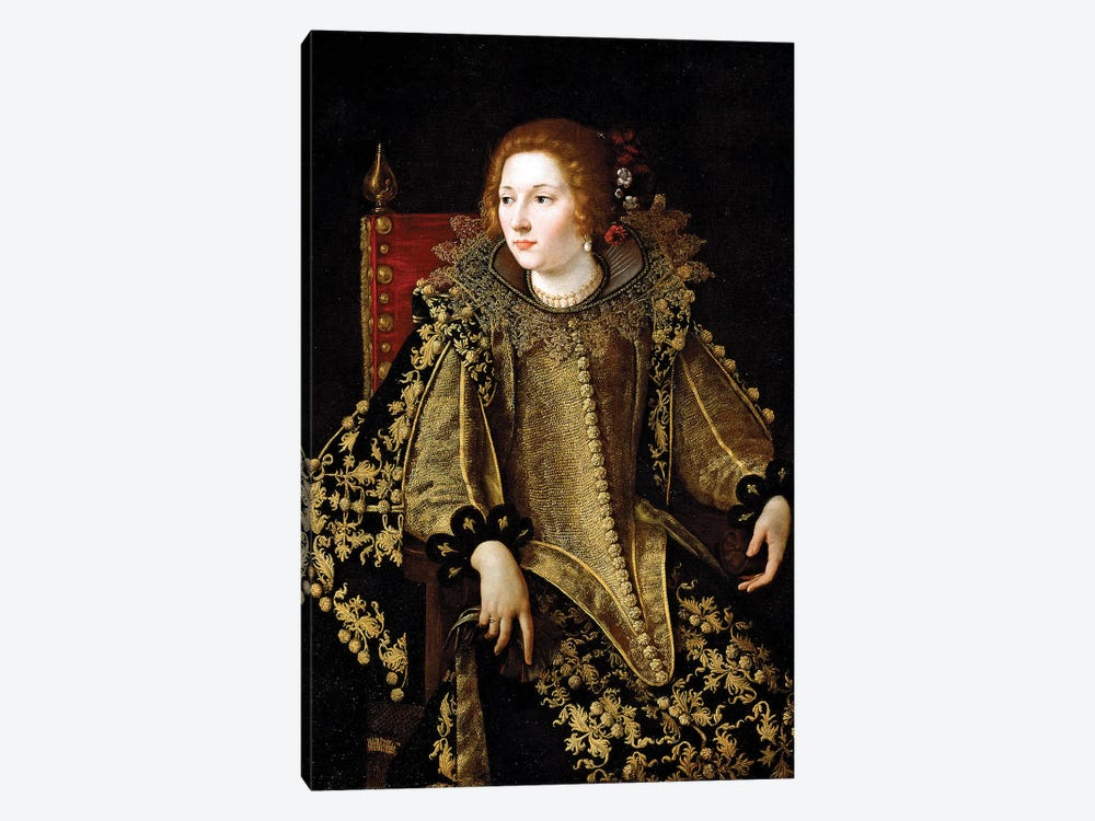 Portrait Of A Seated Lady, c.1620 1-piece Canvas Art Print