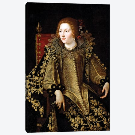 Portrait Of A Seated Lady, c.1620 Canvas Print #BMN7582} by Artemisia Gentileschi Canvas Print