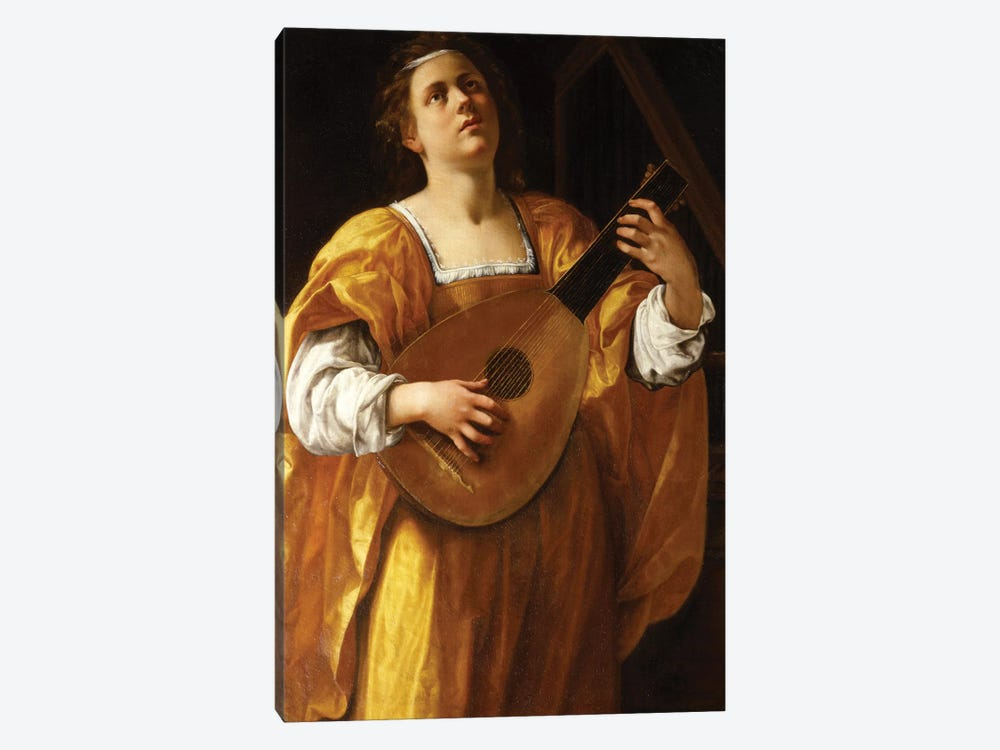 Saint Cecilia, 1620 by Artemisia Gentileschi 1-piece Canvas Wall Art