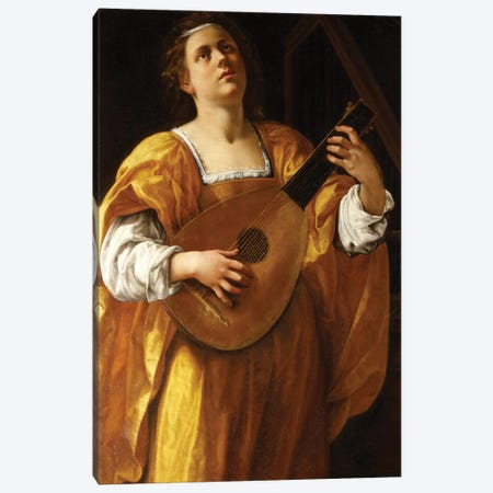 Saint Cecilia, 1620 Canvas Print #BMN7583} by Artemisia Gentileschi Canvas Print