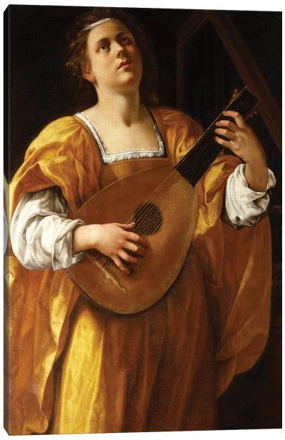 Saint Cecilia, 1620 Canvas Art Print