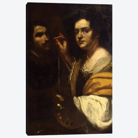 Self Portrait Canvas Print #BMN7585} by Artemisia Gentileschi Canvas Art