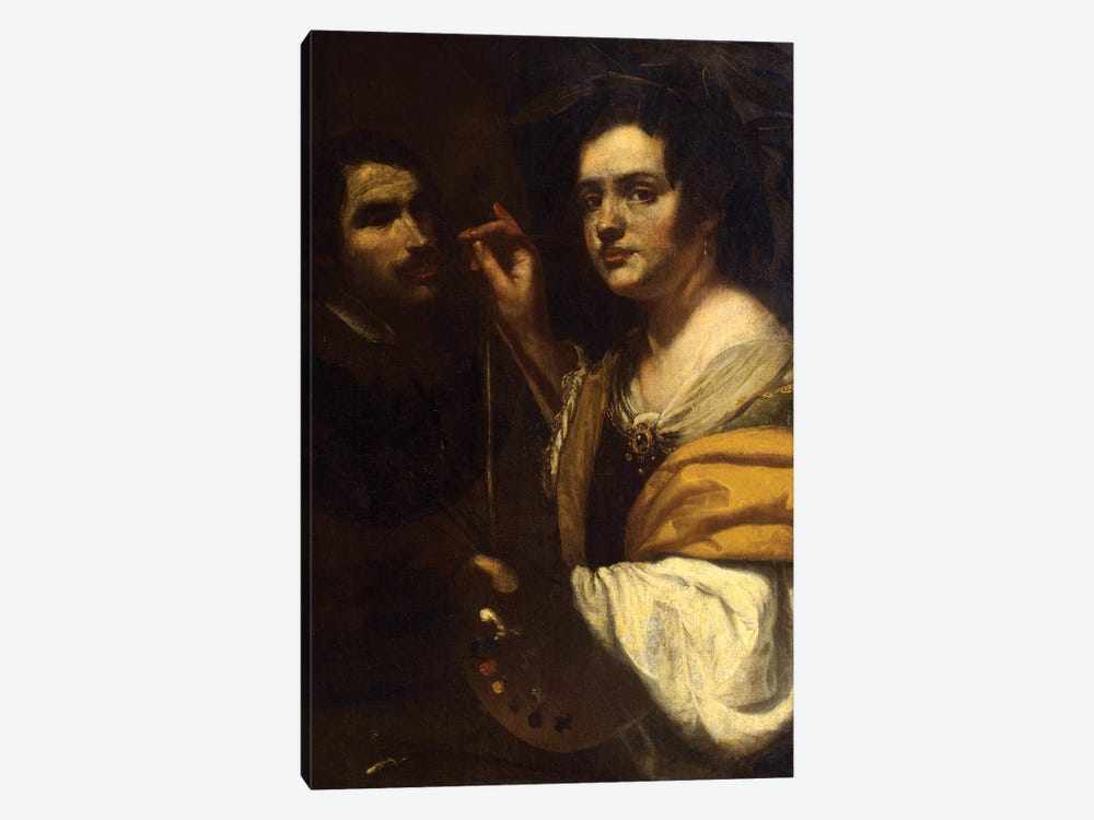Self Portrait by Artemisia Gentileschi 1-piece Canvas Art