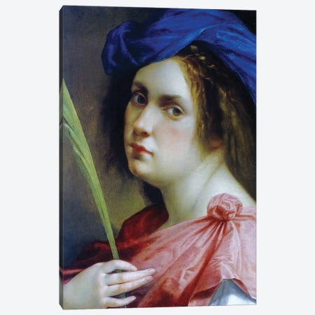 Self Portrait As A Martyr, c.1615 Canvas Print #BMN7586} by Artemisia Gentileschi Canvas Artwork