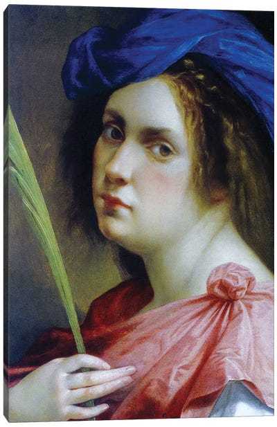 Self Portrait As A Martyr, c.1615 Canvas Art Print
