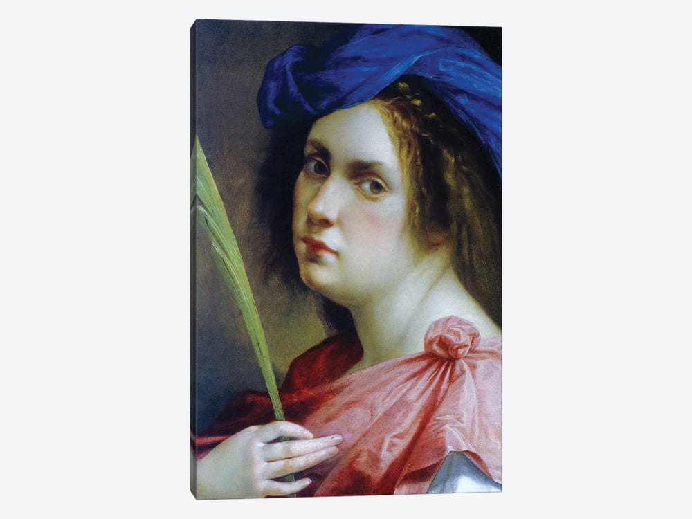 Self Portrait As A Martyr, c.1615 by Artemisia Gentileschi 1-piece Canvas Print