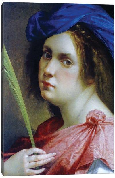 Self Portrait As A Martyr, c.1615 Canvas Art Print