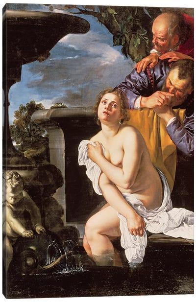 Susannah And The Elders, 1622 Canvas Art Print
