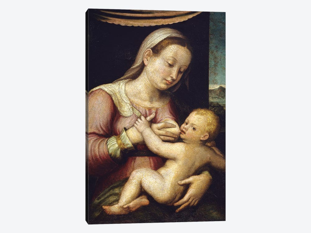 Madonna And Child by Barbara Longhi 1-piece Canvas Art Print