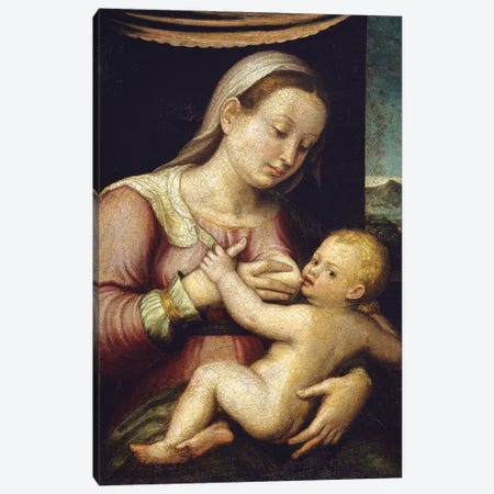 Madonna And Child 3-Piece Canvas #BMN7591} by Barbara Longhi Canvas Artwork