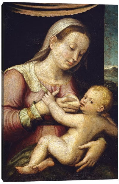 Madonna And Child Canvas Art Print