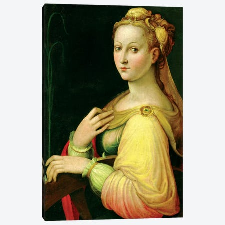 St. Catherine Of Alexandria Canvas Print #BMN7592} by Barbara Longhi Canvas Wall Art