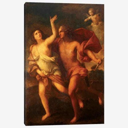 Daphne And Apollo Canvas Print #BMN7593} by Elisabetta Sirani Canvas Wall Art