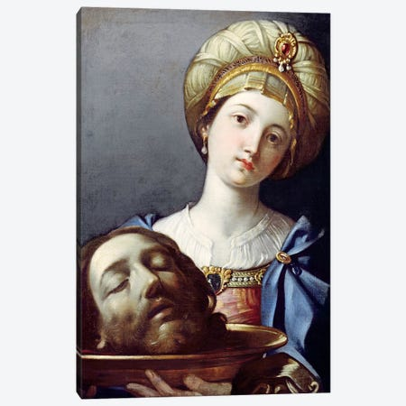 Herodias, With Head Of John The Baptist Canvas Print #BMN7594} by Elisabetta Sirani Canvas Art Print