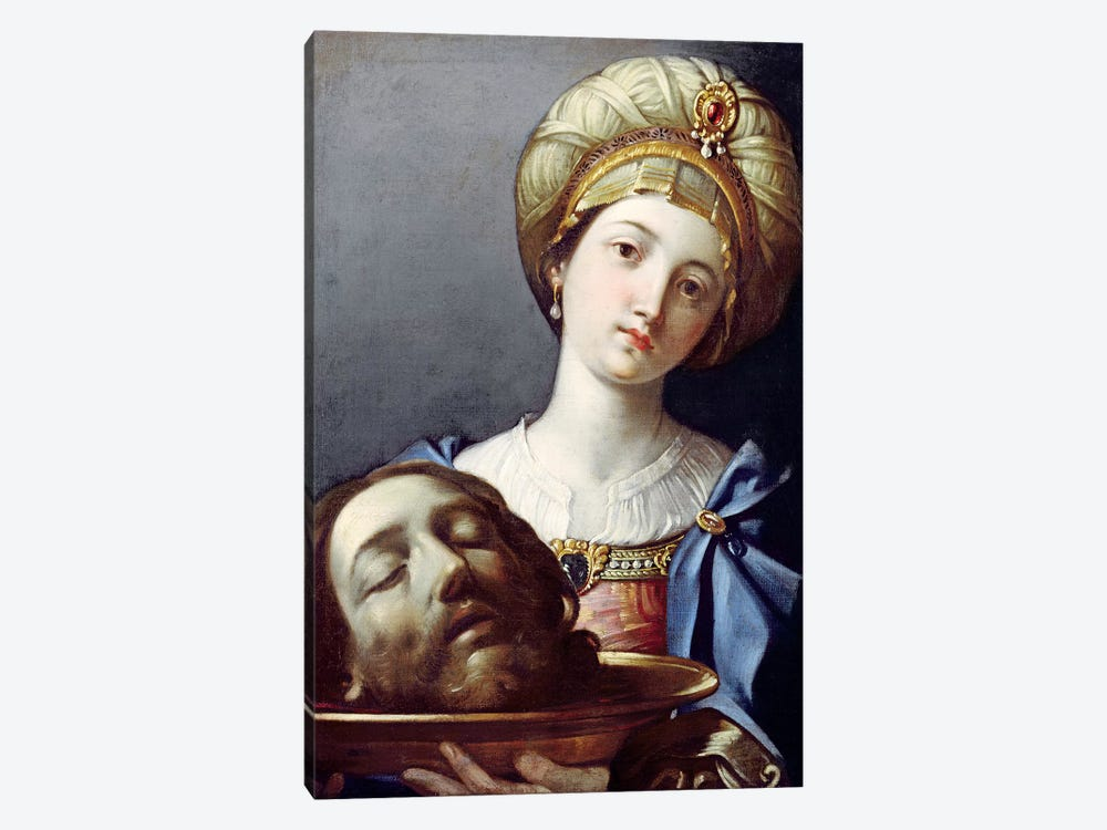 Herodias, With Head Of John The Baptist by Elisabetta Sirani 1-piece Canvas Wall Art