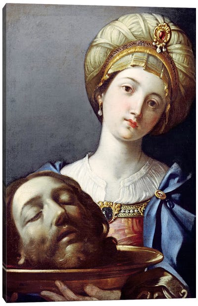 Herodias, With Head Of John The Baptist Canvas Art Print