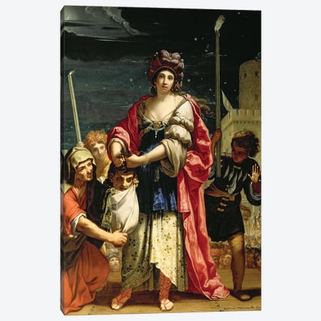 Judith With The Head Of Holofernes Canvas Print #BMN7595} by Elisabetta Sirani Art Print