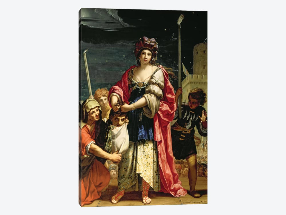 Judith With The Head Of Holofernes by Elisabetta Sirani 1-piece Canvas Art Print