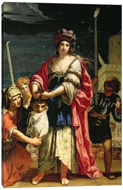 Judith With The Head Of Holofernes Canvas Art Print