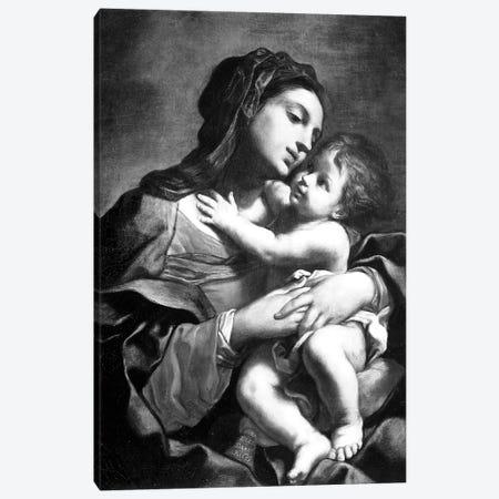 Madonna And Child 3-Piece Canvas #BMN7596} by Elisabetta Sirani Canvas Print