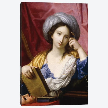 Melpomene, The Muse Of Tragedy Canvas Print #BMN7597} by Elisabetta Sirani Art Print