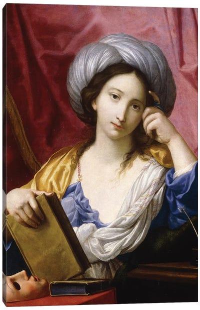 Melpomene, The Muse Of Tragedy Canvas Art Print
