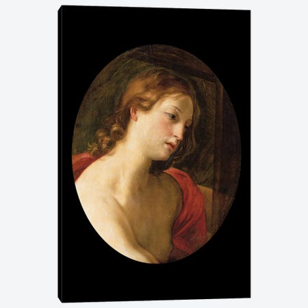Saint John The Baptist Canvas Print #BMN7599} by Elisabetta Sirani Canvas Wall Art