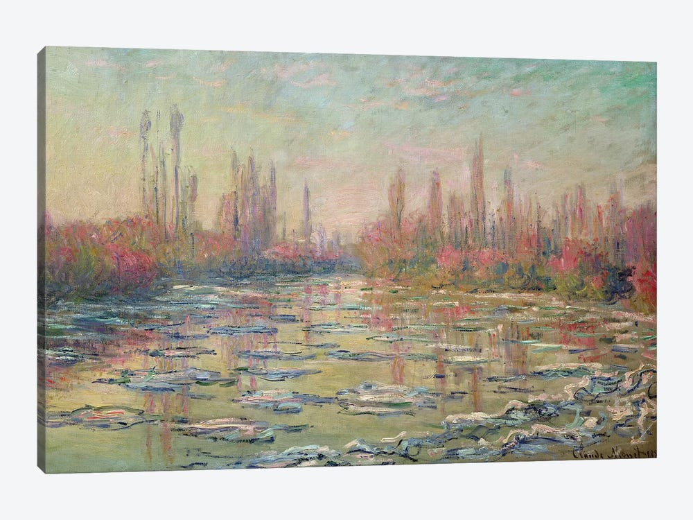 The Thaw on the Seine, near Vetheuil, 1880  by Claude Monet 1-piece Canvas Artwork
