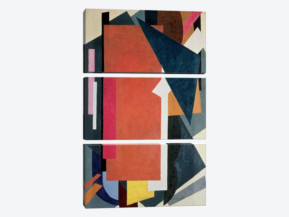 Painterly Architectonics, 1916-17 by Lyubov Popova 3-piece Canvas Artwork