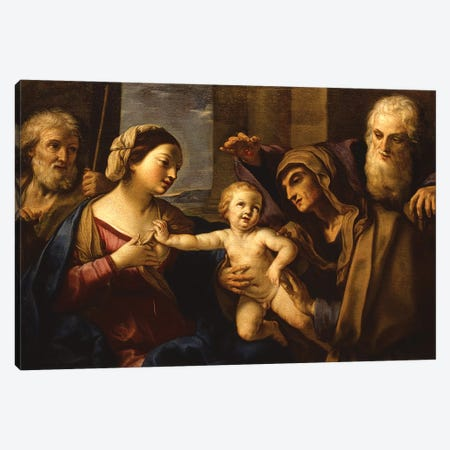 The Holy Family Canvas Print #BMN7600} by Elisabetta Sirani Canvas Art