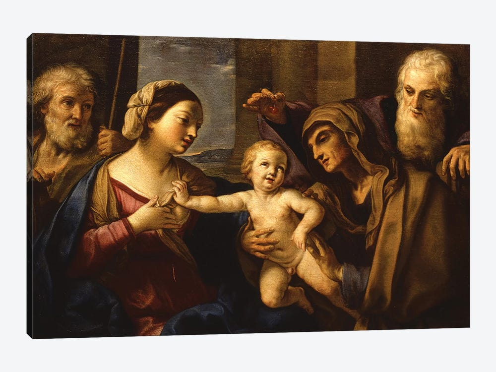 The Holy Family by Elisabetta Sirani 1-piece Canvas Art Print