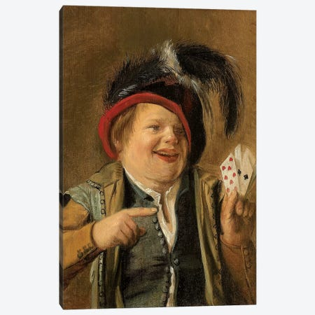 A Card Player Canvas Print #BMN7606} by Judith Leyster Canvas Print