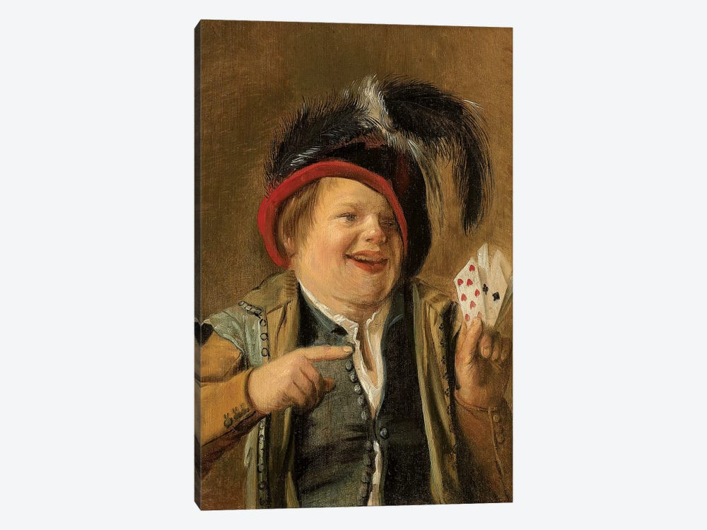 A Card Player by Judith Leyster 1-piece Canvas Art Print