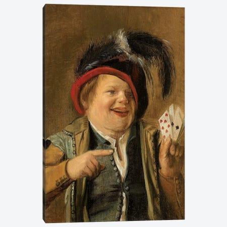 A Card Player Canvas Print #BMN7606} by Judith Leyster Canvas Print