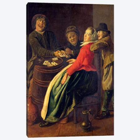 A Game Of Cards Canvas Print #BMN7607} by Judith Leyster Canvas Art Print
