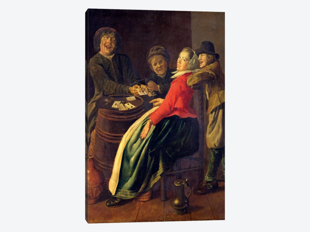 A Game Of Cards by Judith Leyster 1-piece Canvas Art