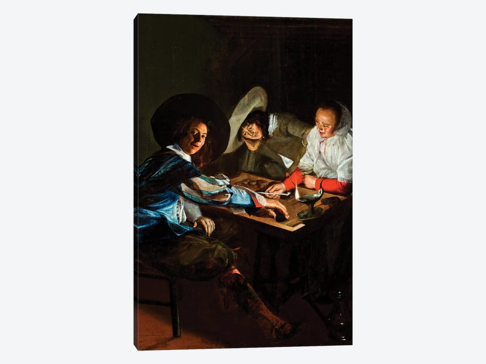 A Game Of Tric-Trac, c.1630 by Judith Leyster 1-piece Canvas Print