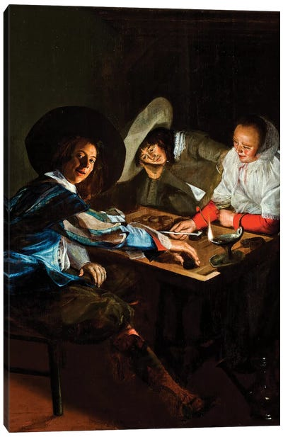 A Game Of Tric-Trac, c.1630 Canvas Art Print